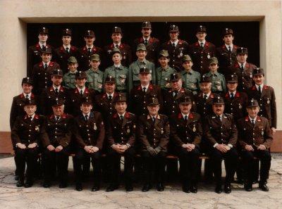 Die Mannschaft der FF Hennersdorf 1985